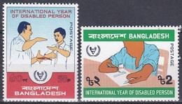 Bangladesch Bangladesh 1981 Organisationen UNO ONU Behinderte Disabled Persons Invaliden Zeichensprache, Mi. 161-2 ** - Bangladesch