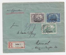 Danzig 3 R-Briefe Mit Frankaturen Ex MiNr. 8-15 - Dantzig