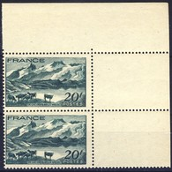 +G2121. France 1943. Le Lac Lerie. Paysage. Pair. Yvert 582. Michel 594. MNH(**) - France