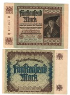 Germania Germany 1922 5000 Mark Sup/q.fds  LOTTO 2384 - [ 3] 1918-1933 : Repubblica  Di Weimar