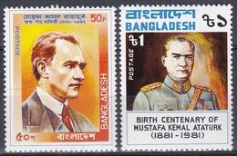 Bangladesch Bangladesh 1981 Geschichte History Politiker Politicans Persönlichkeiten Mustafa Kemal Atatürk, Mi. 159-0 ** - Bangladesch