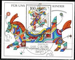 BRD - Mi Block 35 = 1853 - OO Gestempelt (C) - 100Pf      Für Uns Kinder 96 - [7] République Fédérale
