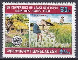 Bangladesch Bangladesh 1981 Organisationen UNO ONU Entwicklung Developement Reisernte Rice, Mi. 158 ** - Bangladesch