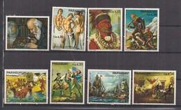 PARAGUAY 1976 BICENTENARIO DELL'INDIPENDENZA DEGLI STATI UNITI D'AMERICA YVERT. 1459-1466 MNH XF - Paraguay
