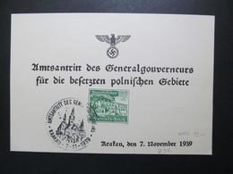 DR Nr. 732, 1939, Sonderkarte, EF, Sonderstempel Krakau  *DEL2131* - Germany
