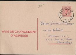 Doc. De LA BOUVERIE D D -   Du 20/01/69  Sur Chgt D'adresse N° 14. III.F. - Marcophilie