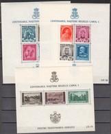 Rumänien; 1939; Michel Block 4/6/8**, König Karl I - Nuevos