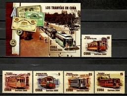 Cuba 2004 / Transport Trams MNH Tranvías Strassenbahn Tramways / Cu11120  4 - Tranvías