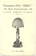 CARTE PUBLICITAIRE. FERRONNERIE D'ART DREY, PARIS - Advertising