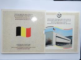 """M/MS14 BELGIQUE Série """"Fleur De Coin"""" FDC 1989 (FR+FL) - 1951-1993: Baudouin I"""