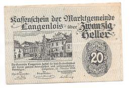 ** Notgeld Langenlois  20 Heller 501f/b - Autriche