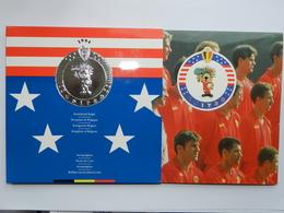 """M/MS19 BELGIQUE Série """"Fleur De Coin"""" FDC 1994 (FR+FL) Les Diables Rouges Aux Etats-Unis - 1993-...: Albert II"""