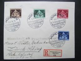 DR Nr. 617-620, 1936, R-Brief, Satzbrief, MiF, Sonderstempel München  *DEL2139* - Germany