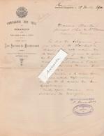 Courrier 1900 / Compagnie Des Sels Besançon / Salines De Montferrand / 25 Doubs - France