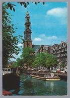 NL.- AMSTERDAM. De Westerkerk. Brug. Gracht. 1978. Old Cars. Rondvaartboot. Reederij P. Kooij. - Kerken En Kathedralen