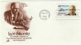 USA - 1988 - FDC Air Mail Stamp 36 C  - Art Craft Cachet - Poste Aérienne