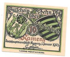 ** Notgeld Kamenz 10 Pfennig K5.4 - [11] Emissions Locales
