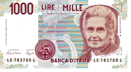 1000-Lire Banknote NEU - UNBENÜTZT - 1000 Lire