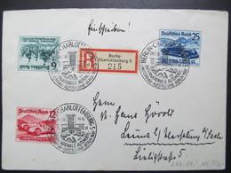 DR Nr. 686-688, 1939, R-Brief, Satzbrief, MiF, Sonderstempel Berlin Charlottenburg  *DEL2142* - Alemania