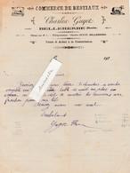 Facture 1920 / Charles GUYOT / Commerce Bestiaux / 25 Belleherbe Doubs - France