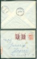 Yugoslavia 1965 Ambulance Bahnpost Railway Mail Bjelovar - Zagreb 28 A Letter - Covers & Documents