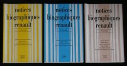 ( Automobile Boulogne-Billancourt ) NOTICES BIOGRAPHIQUES RENAULT Gilbert HATRY 3 TOMES - Auto