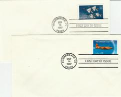 USA - 1997 - FDC Aero Stamp 32 C  - 2 Covers - Ersttagsbelege (FDC)