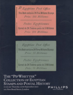 Egypt: Auction Catalogue Of The Pip Whetter Collection Of Egyptian Stamps, Etc., 2001 - Catalogi Van Veilinghuizen