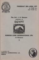 Egypt: Auction Catalogue Of The Col. J.R. Danson Collection Of Egypt, 1977 - Catalogues For Auction Houses