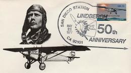 USA - 1977 - FDC Aero Stamp 13 C  - C.Lindbergh - Air Mail