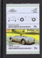 Porsche Spyder 550-06  (1954)  -  2v Se-tenant MNH  -  Grenadines Of St Vincent (Union Island) - Autos
