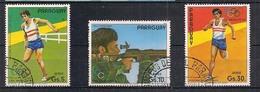 PARAGUAY 1984 POSTA AEREA  GIOCHI OLIMPICI A LOS ANGELES YVERT. 945-947 USATA VF - Paraguay