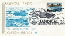 USA - 1985 - FDC Aero Stamp  44 C  - China Clipper - Poste Aérienne