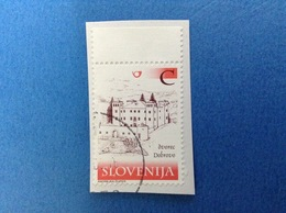 2007 SLOVENIA SLOVENIJA FRANCOBOLLO USATO STAMP USED CITTÀ DVOREC DOBROVO C - Slovenia