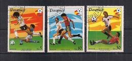 "PARAGUAY 1984 POSTA AEREA ""ESPANA 84"" E ""MEXICO 86"" YVERT. 953-955 USATA VF - Paraguay"