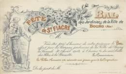 Fête De La St Fiacre - Invitation Au Bal Des Jardiniers De La Ville - Autres
