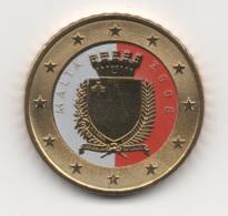 Malta, 2008, 50 Euro Cent, Color, 24K Gold-plated, UNC - Malta