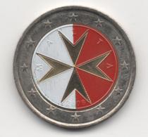 Malta, 2008, 2 Euro, Maltese Cross, Color, UNC - Malta