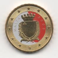 Malta, 2008, 10 Euro Cent, Color, 24k Gold-plated, UNC - Malte