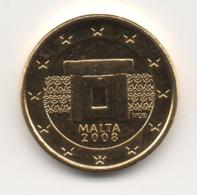 Malta, 2008, 1 Euro Cent, 24K Gold-Plated, UNC - Malta