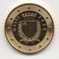 Malta, 2008, 50 Euro Cent, 24K Gold-Plated, UNC. - Malta