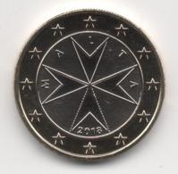 Malta 2018, 1 Euro, Maltese Cross, UNC - Malta