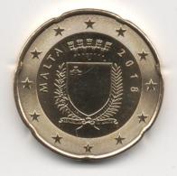 Malta 2018, 20 Euro Cent, UNC - Malta