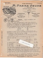 Facture 1950 / FABRE / TARIF Huile Olive & Arachide / Savon / 13 Marseille & Salon De Provence - 1900 – 1949