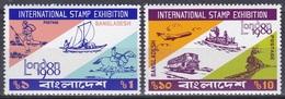 Bangladesch Bangladesh 1980 Philatelie Philately Briefmarkenausstellung Stamp Exhibition Post LONDON, Mi. 135-6 ** - Bangladesch