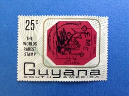 GUYANA GUIANA SOUTH AMERICA 25 C THE WORLDS RAREST STMP FRANCOBOLLO USATO STAMP USED - Guiana (1966-...)