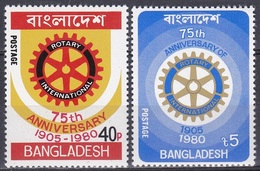 Bangladesch Bangladesh 1980 Organisationen Wohlfahrt Welfare Rotary Zahnrad Zahnräder Cogs, Mi. 131-2 ** - Bangladesch
