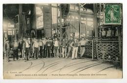 CPA 71 MONTCEAU-les-MINES Puits Saint-François . Descente Des Mineurs - Montceau Les Mines
