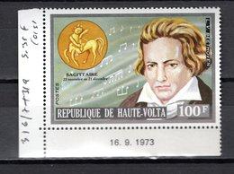 HAUTE VOLTA  N° 316  NEUF SANS CHARNIERE  COTE  1.00€  SIGNES DU ZODIAQUE  MUSIQUE  BEETHOVEN - Haute-Volta (1958-1984)