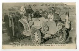 CPA LA FRANCE AU MAROC ORIENTAL  Depart Pour Oudjda Des Officiers Blesses Godchot (Maroc) - Lieutenant Bisambiglia 1912 - Maroc
